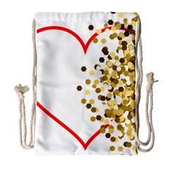 Heart Transparent Background Love Drawstring Bag (large)