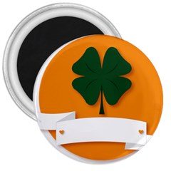 St Patricks Day Ireland Clover 3  Magnets