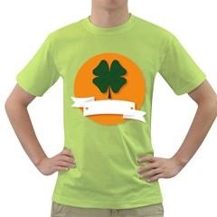 St Patricks Day Ireland Clover Green T Shirt