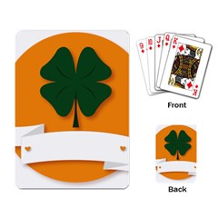 St Patricks Day Ireland Clover Playing Card