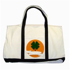 St Patricks Day Ireland Clover Two Tone Tote Bag