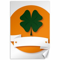 St Patricks Day Ireland Clover Canvas 12  x 18