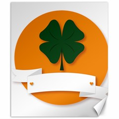 St Patricks Day Ireland Clover Canvas 20  X 24