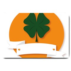 St Patricks Day Ireland Clover Large Doormat
