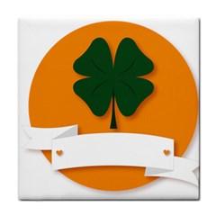 St Patricks Day Ireland Clover Face Towel
