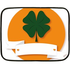 St Patricks Day Ireland Clover Double Sided Fleece Blanket (Mini)