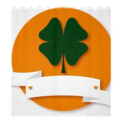 St Patricks Day Ireland Clover Shower Curtain 66  X 72  (large)