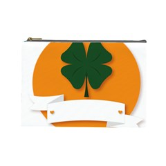 St Patricks Day Ireland Clover Cosmetic Bag (large)