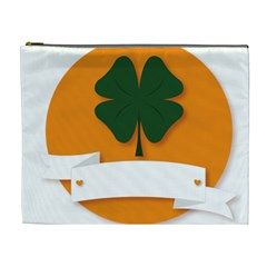 St Patricks Day Ireland Clover Cosmetic Bag (xl)