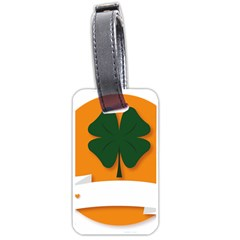St Patricks Day Ireland Clover Luggage Tags (one Side)