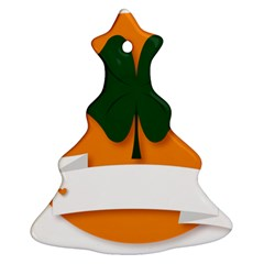 St Patricks Day Ireland Clover Christmas Tree Ornament (two Sides)
