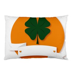 St Patricks Day Ireland Clover Pillow Case (two Sides)