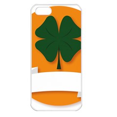 St Patricks Day Ireland Clover Apple Iphone 5 Seamless Case (white)