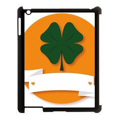 St Patricks Day Ireland Clover Apple Ipad 3/4 Case (black)