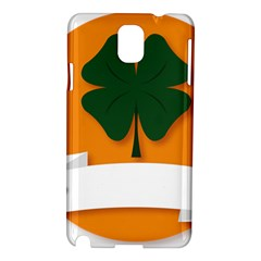 St Patricks Day Ireland Clover Samsung Galaxy Note 3 N9005 Hardshell Case