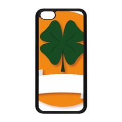 St Patricks Day Ireland Clover Apple iPhone 5C Seamless Case (Black)