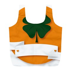 St Patricks Day Ireland Clover Full Print Recycle Bags (L)