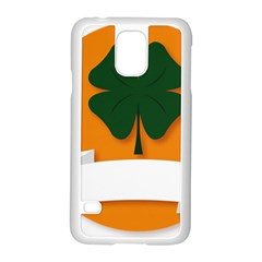 St Patricks Day Ireland Clover Samsung Galaxy S5 Case (white)