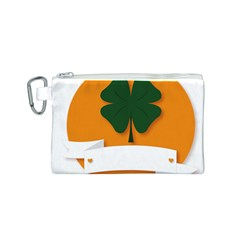 St Patricks Day Ireland Clover Canvas Cosmetic Bag (S)