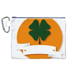 St Patricks Day Ireland Clover Canvas Cosmetic Bag (xl)