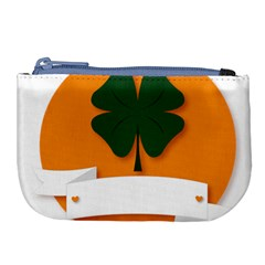 St Patricks Day Ireland Clover Large Coin Purse