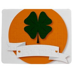 St Patricks Day Ireland Clover Jigsaw Puzzle Photo Stand (rectangular)