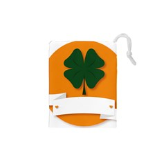 St Patricks Day Ireland Clover Drawstring Pouches (xs)