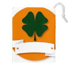 St Patricks Day Ireland Clover Drawstring Pouches (xxl)
