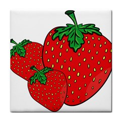 Strawberry Holidays Fragaria Vesca Tile Coasters