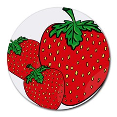 Strawberry Holidays Fragaria Vesca Round Mousepads