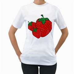 Strawberry Holidays Fragaria Vesca Women s T Shirt (white) (two Sided)