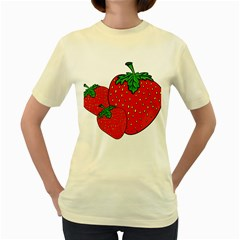 Strawberry Holidays Fragaria Vesca Women s Yellow T Shirt