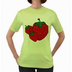 Strawberry Holidays Fragaria Vesca Women s Green T Shirt