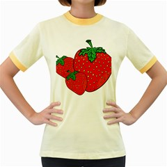 Strawberry Holidays Fragaria Vesca Women s Fitted Ringer T Shirts