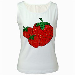 Strawberry Holidays Fragaria Vesca Women s White Tank Top