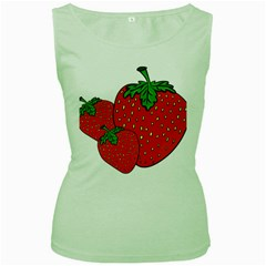 Strawberry Holidays Fragaria Vesca Women s Green Tank Top