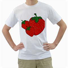 Strawberry Holidays Fragaria Vesca Men s T Shirt (white) (two Sided)