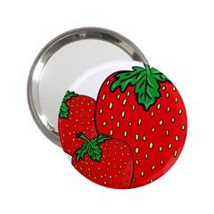 Strawberry Holidays Fragaria Vesca 2 25  Handbag Mirrors