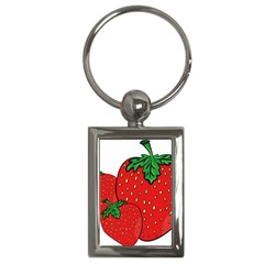 Strawberry Holidays Fragaria Vesca Key Chains (rectangle)