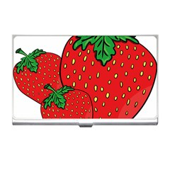 Strawberry Holidays Fragaria Vesca Business Card Holders