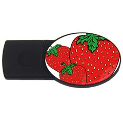 Strawberry Holidays Fragaria Vesca Usb Flash Drive Oval (2 Gb)