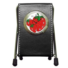 Strawberry Holidays Fragaria Vesca Pen Holder Desk Clocks