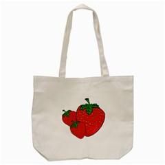Strawberry Holidays Fragaria Vesca Tote Bag (Cream)