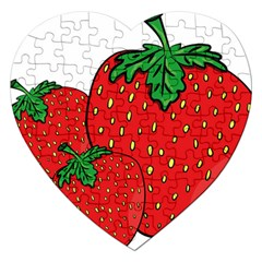 Strawberry Holidays Fragaria Vesca Jigsaw Puzzle (heart)