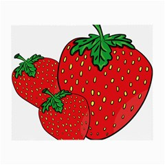 Strawberry Holidays Fragaria Vesca Small Glasses Cloth