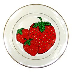 Strawberry Holidays Fragaria Vesca Porcelain Plates