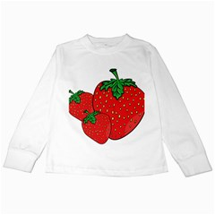 Strawberry Holidays Fragaria Vesca Kids Long Sleeve T Shirts