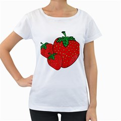 Strawberry Holidays Fragaria Vesca Women s Loose Fit T Shirt (white)