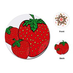 Strawberry Holidays Fragaria Vesca Playing Cards (Round)