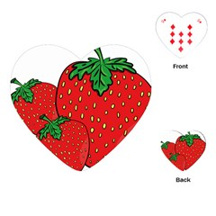 Strawberry Holidays Fragaria Vesca Playing Cards (heart)